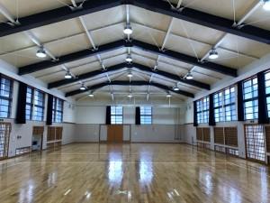 【青森県三戸町】三戸高等学校柔剣道場天井改修工事が竣工しました。