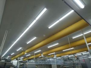 【青森県三沢市】スターゼンミートプロセッサー(株)青森工場 三沢ポークセンター加工1課カット作業室等LED化工事が竣工しました。